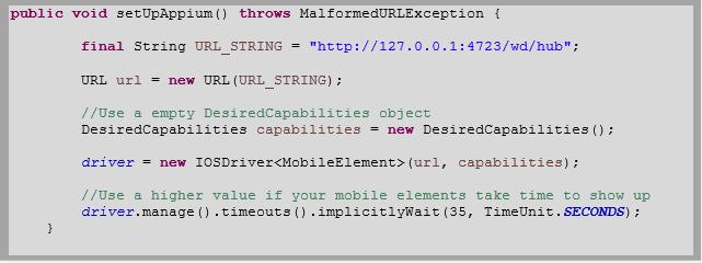 Appium setup code for ios.PNG